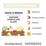 eat colors for your health... | Shutterstock .eps vector #435506542