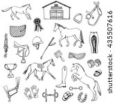 collection of hand drawn...   Shutterstock .eps vector #435507616