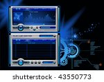 mp3 media music player vector | Shutterstock .eps vector #43550773