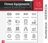 fitness equipments vector black ... | Shutterstock .eps vector #435509236