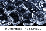 frozen water. ice cubes on the... | Shutterstock . vector #435524872