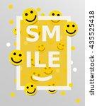 smiley faces design elements.... | Shutterstock .eps vector #435525418