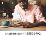 film effect. handsome african... | Shutterstock . vector #435536992