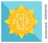 fun in the sun   Shutterstock .eps vector #435540745