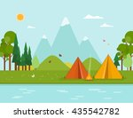 colorful concept with summer... | Shutterstock .eps vector #435542782