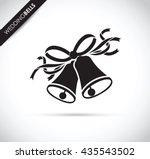 wedding black bells | Shutterstock .eps vector #435543502