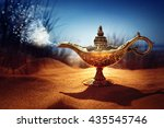 magic lamp in the desert from... | Shutterstock . vector #435545746