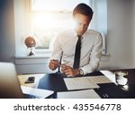 executive business man working... | Shutterstock . vector #435546778