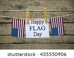 happy flag day greeting card or ... | Shutterstock . vector #435550906