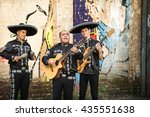 mexican musicians on the street | Shutterstock . vector #435551638