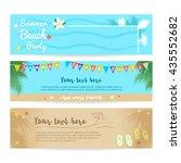 set of summer beach and sea... | Shutterstock .eps vector #435552682