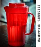 plastic pitcher red color of...   Shutterstock . vector #435553588