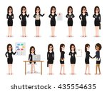 set of working people on white... | Shutterstock .eps vector #435554635