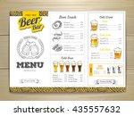 vintage beer menu design.  | Shutterstock .eps vector #435557632