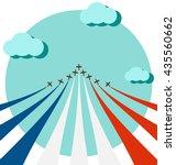 air show on sky for celebrate... | Shutterstock .eps vector #435560662