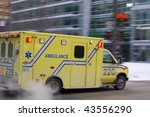 Ambulance Car Speeding Blurred...