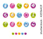 glossy circle icons   social...