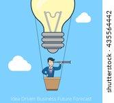 linear flat line art style idea ... | Shutterstock .eps vector #435564442