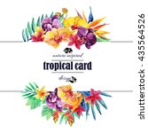 Tropical Floral Card Watercolo...