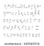 hand drawn vector font. | Shutterstock .eps vector #435565576