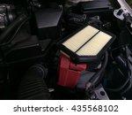 focus of a new car air filter... | Shutterstock . vector #435568102