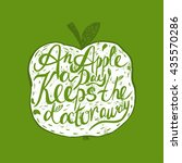 hand drawn vintage motivational ... | Shutterstock .eps vector #435570286