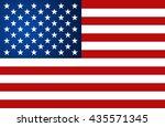 united state of america flag.... | Shutterstock .eps vector #435571345