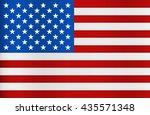 united state of america flag.... | Shutterstock .eps vector #435571348