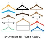 set of colored coat hangers on... | Shutterstock .eps vector #435572092