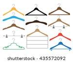 set of colored coat hangers on... | Shutterstock .eps vector #435572092