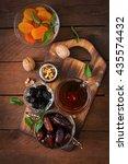 mix dried fruits  date palm...   Shutterstock . vector #435574432