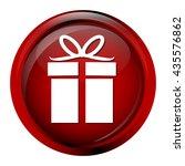 gift box button icon vector... | Shutterstock .eps vector #435576862