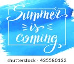 hello summer  hand written... | Shutterstock .eps vector #435580132