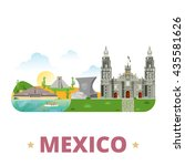 mexico country design template. ... | Shutterstock .eps vector #435581626