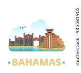 bahamas country badge fridge... | Shutterstock .eps vector #435581902