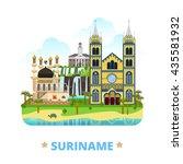 suriname country flat cartoon... | Shutterstock .eps vector #435581932