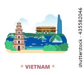 vietnam country flat cartoon... | Shutterstock .eps vector #435582046