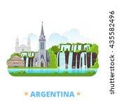 argentina country flat cartoon... | Shutterstock .eps vector #435582496