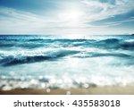 beach in sunset time  tilt... | Shutterstock . vector #435583018