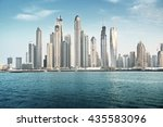 dubai marina in sunset time ... | Shutterstock . vector #435583096