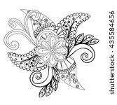 vector abstract hand drawn... | Shutterstock .eps vector #435584656