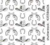 western hand draw sketch vector ...   Shutterstock .eps vector #435586636