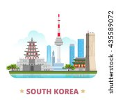 south korea country design flat ... | Shutterstock .eps vector #435589072