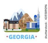 georgia country design template.... | Shutterstock .eps vector #435589096