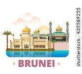 brunei country design template. ...   Shutterstock .eps vector #435589255
