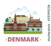 denmark country design template.... | Shutterstock .eps vector #435590236