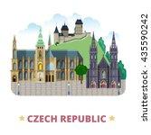 czech republic design template. ... | Shutterstock .eps vector #435590242