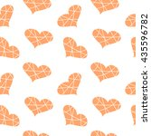 seamless pattern with hearts.... | Shutterstock .eps vector #435596782
