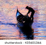 silhoutte of a traditional... | Shutterstock . vector #435601366