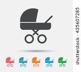 baby pram stroller sign icon.... | Shutterstock .eps vector #435607285